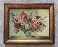 Vintage Still Life Oil Painting Flowers Floral Mid Century Modern Signed