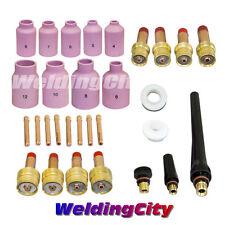 "TIG Welding Gas Lens Kit .040-1/16-3/32-1/8"" Torch 17/18/26 T26 | US Seller Fast"