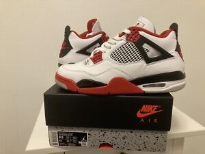 Nike Air Jordan 4 FIRE RED - US 9.5 - VNDS - White Cement, Bred, Black Cement