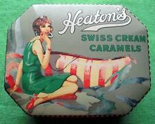 C1920 art deco lady heatons toffee tin box & couvercle