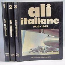 ALI ITALIANE 1908-1945 RIZZOLI 1978 3 VOLUMI (WA287)