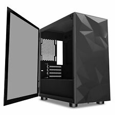darkFlash Micro-ATX ITX Tower Gaming PC Case Tempered Glass Swing Door DLM21