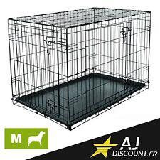 Caisse de transport - Taille M - 91x58x66 cm - Cage métallique pour chien chat