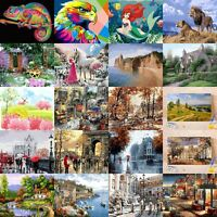 40*50cm Paint By Numbers Mermaid Lion Scenery DIY Acrylic Painting Canvas Frame