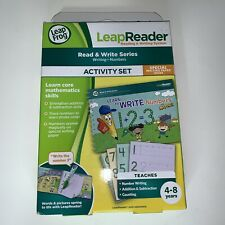 Leap Frog LeapReader Activity Set Learn to Write Numbers 4-8 yrs old
