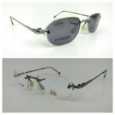 7ab8f175a3 Easy Clip PC159 Eyeglasses Frame Private Jockey Club 48 20 140mm Rimless Rx
