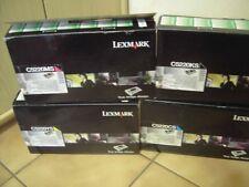 4x Toner LEXMARK Schwarz C5220KS,Magenta C5220MS,Cyan C5220CS,Gelb C5220YS NEU