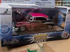 M2 1957 57 Chevy Bel Air Super Chase 1/108 made Black with flames  1/64 Die cast