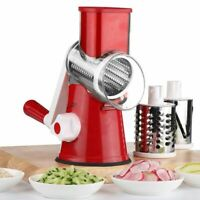 3 In1 Multifunctional Round Mandoline Slicer Manual Vegetable Cutter grater New