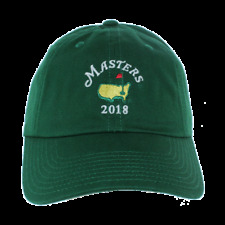 2018 Dated Masters Golf EMERALD GREEN Caddy Slouch Hat AUGUSTA NATIONAL