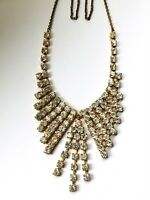 Vintage Diamante Diamond Paste Necklace *7