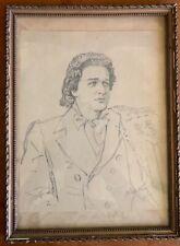 Mihaly Munkacsy - Woman portrait perncil drawing