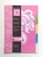 "Studio C Decorative 5 Tab Divider 6"" x 8.5"" - for 8.5"" x 5.5"" Ring Binders 27187"