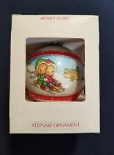 Vintage 1980 Hallmark Glass Ornament Betsey Clark Tree Trimmer Collection Box