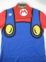 New Nintendo Super Mario T Shirt & Beanie Combo Set Size Small Mens Hat Costume