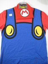 New Nintendo Super Mario T Shirt & Beanie Combo Set Size Large Mens Hat Costume