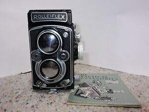 ROLLEIFLEX  DBP DBGM Carl Zeiss Tessar 75mm f/3.5 1954 Serial # 1494412