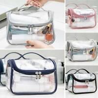 Clear Toiletry Cosmetic Transparent PVC BagsTravel Makeup Bag Pouch Trip Handbag
