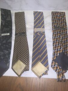 GUCCI men's tie 100% Silk Tie set of Two, 1 Zegna and 1 Grigio