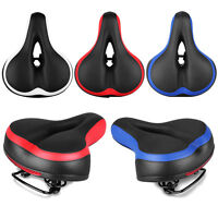 Cycling Hollow Cushion MTB Road Bicycle Wide Thicken Soft Silicone Saddle Seat