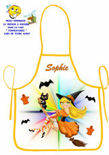 tablier de cuisine enfant sorcière personnalisé prénom au choix réf 59