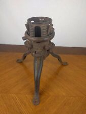 Vtg Metal Christmas Tree Stand Philada Pa Usa Holiday Santa Cast Iron Primitive
