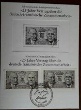 25 Jahre Vertrag über die deutsch-französische Zusammenarbeit mit Schwarzdruck