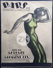 PARS... SHEET MUSIC Georgel Jean LENOIR G. Lix POL RAB Partition 1924