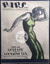 PARS... SHEET MUSIC Georgel Jean LENOIR G. Lix POL RAB Partition 1924