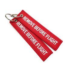 Rouge Remove Before Flight Trousseau | Étiquette de bagage | Lot de 2 | aviamart