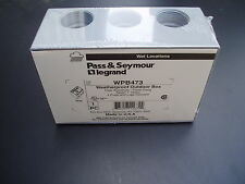 Pass and Seymour WPB473 Aluminum weatherproof 3 gang outdoor box - Gray