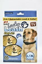 LUCKY LEASH Large / XL  Retractable 2 in 1 Magnetic DOG Leash Collar NEW ASTV
