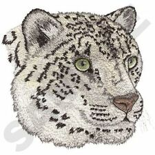 "Snow Leopard, Wild Animal, Exotic Cat Embroidered Patch 5.5""x 5.7"""