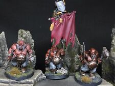 3X OGRE Gluttons Kingdoms Maw tribe Age Of Sigmar Warcry Painted And Based