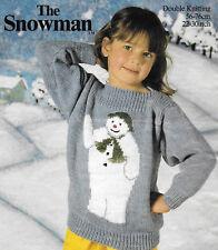 "Girl's/boy's The Snowman sweater knitting pattern 22""-30"" chest DK 232"