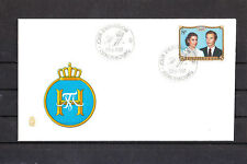 Ef/ Luxembourg  enveloppe   couple grandducale  1981