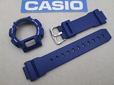 Genuine Casio G-Shock DW-9052 watch band & bezel navy blue fits DW-9050 DW-9051