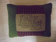 Adorable Rustic Multi Colored Words Decorative Pillow 10x8