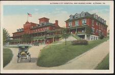 POSTCARD City Hospital and Nurse's Home ALTOONA PA 1910