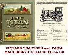 Tractors Farm Agriculture Machinery Implements Ploughs Vintage Books on CD