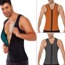 Fashion Mens Vest Body Belly Shaper Sport Slimming Zip Belt Corset Neoprene Tops