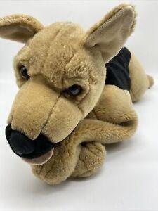 """Vtg 30"""" Large 2000 Toys R Us Plush Dog German Shepherd Puppy Black Brown Toy"""