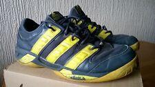 ADIDAS Court Stabil Men's Grey Yellow Torsion Indoor Squash Shoes 12.5 UK 48 EU