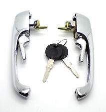 VW Volkswagen BayWindow Type 2 Pair Chrome Cab Door Handles with Keys 211898205N