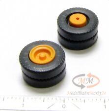 ALBEDO Räder ASG Reifen Zwillingsreifen schwarz Felge orange 10 Stk R197 NEU