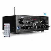 Pyle Home[r] Pta24bt Compact Bluetooth[r] Audio Stereo Receiver With Fm Radio