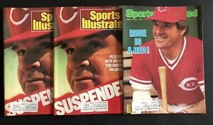 Pete Rose Reds Lot of 4 Sports Illustrated Magazines 1984 & 1988 & 1974