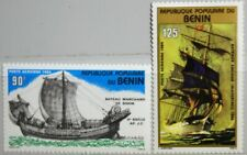 BENIN 1984 380-81 C328-29 historical Sailing Ships Segelschiffe Schiffe MNH
