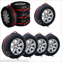 "4x Car SUV Spare Wheel Tyre Tire Protection Cover 13""-19"" Carry Tote Storage Bag"