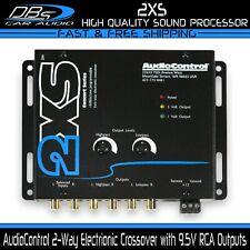 AudioControl 2Xs 2-Way Electrionic Car Audio Crossover Processor 9.5V Rca Output